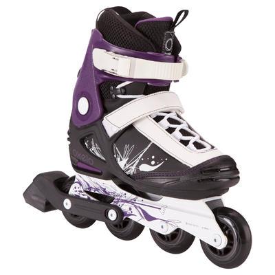 Roller freeride slalom femme FREERIDE 3 SOFTBOOT noir violet