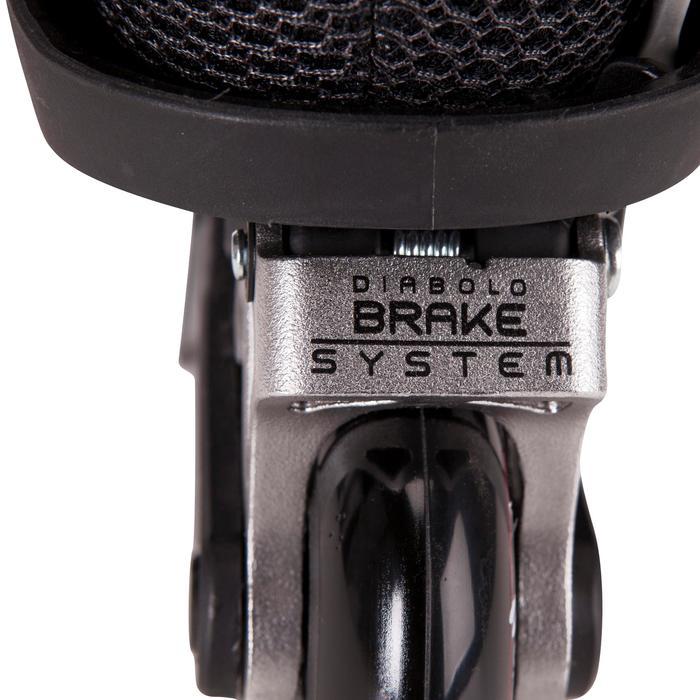 2 roues roller DIABOLO 76mm noires - 691029