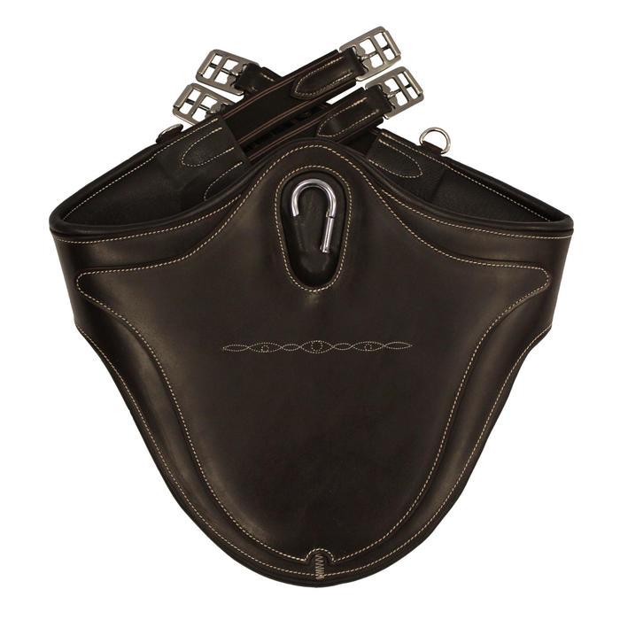 Sangle bavette cuir équitation poney et cheval ROMEO - 691081