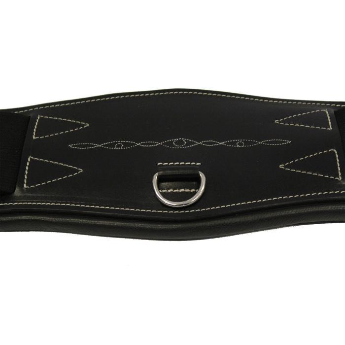 Sangle courte cuir pour selle de dressage équitation cheval et poney ROMEO noir - 691087