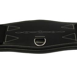Sangle courte cuir pour selle de dressage équitation cheval et poney ROMEO noir