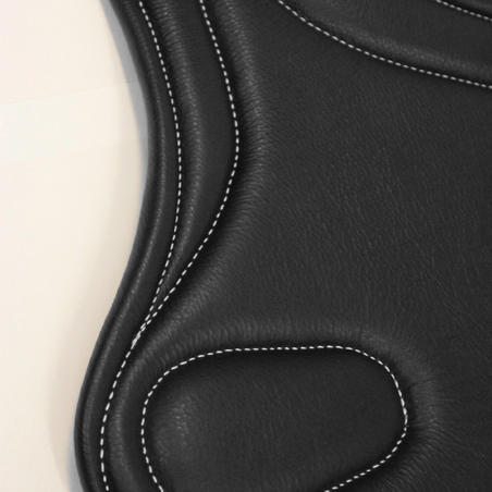 Romeo Horse Riding Leather Belly Guard For Horse/Pony - Black