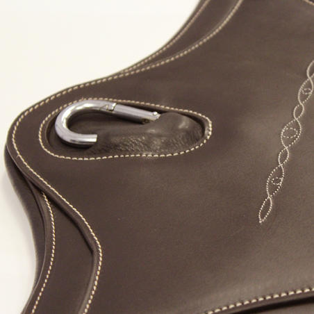 Romeo Horse Riding Leather Belly Guard for Horse and Pony - Brown