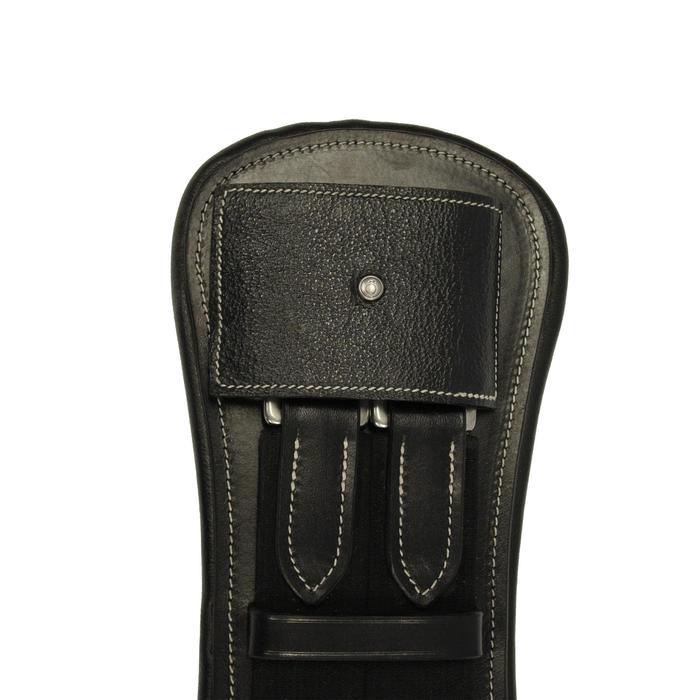 Sangle courte cuir pour selle de dressage équitation cheval et poney ROMEO noir - 691092