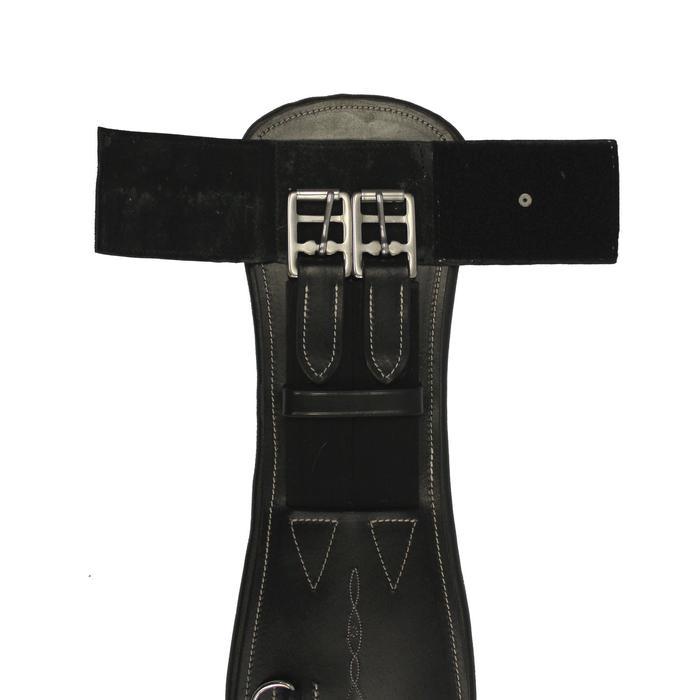 Sangle courte cuir pour selle de dressage équitation cheval et poney ROMEO noir - 691093