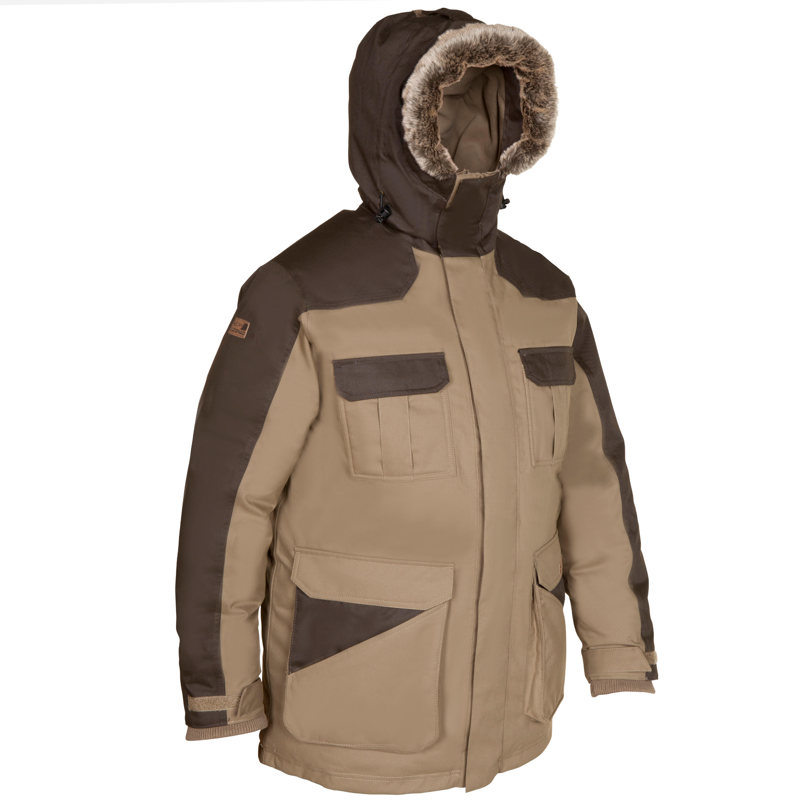 Parka chasse grand froid Toundra 300 marron