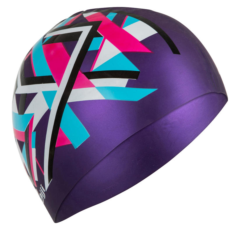 SILICONE GRAPH SWIM CAP PURPLE