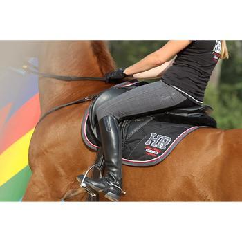 Polainas equitación adulto PADDOCK 700 piel Negro