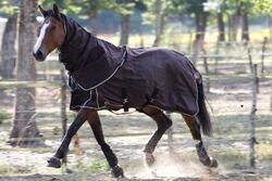 Waterdichte neckcover Allweather Light ruitersport paard bruin - 692894