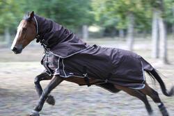 Waterdichte neckcover Allweather Light ruitersport paard bruin - 692898