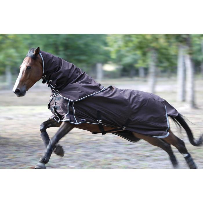 Chemise extérieur imperméable équitation poney et cheval ALLWEATHER LIGHT marron - 692905