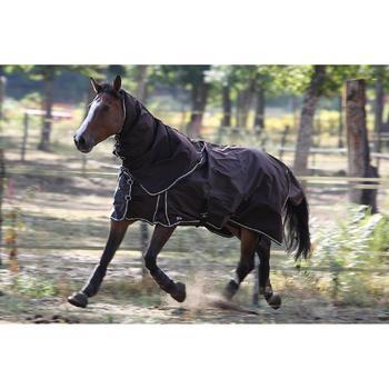 Chemise extérieur imperméable équitation poney et cheval ALLWEATHER LIGHT marron - 692907