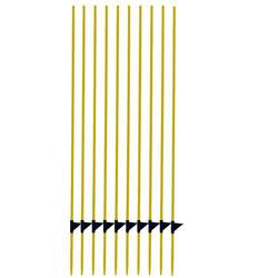 Zaunpfahl Fiberglas für Weidezäune 10er-Pack gelb