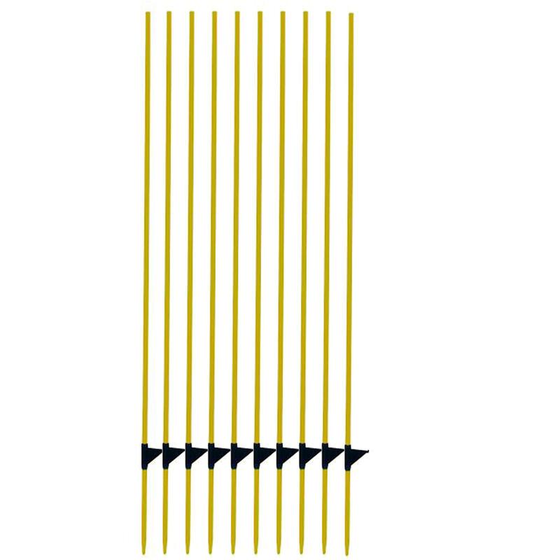 Picchetto fibra di vetro recinzioni equitazione x10