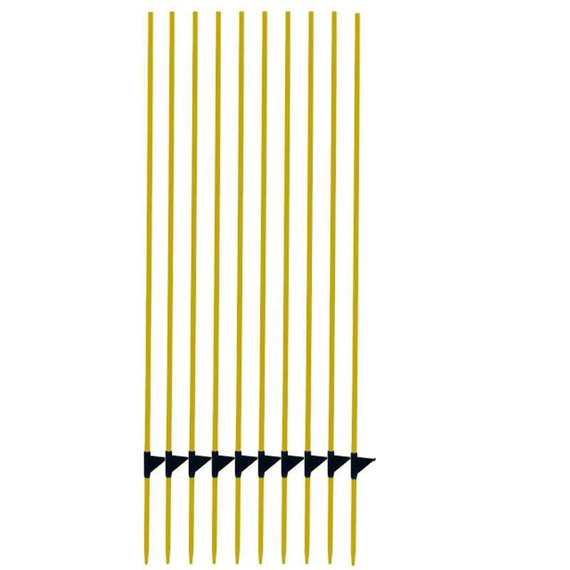 HORSE FENCING EQUIPMENT Horse Riding - Fibreglass Post x10 - Yellow AKO - Horse Stable and Yard