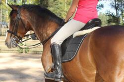 Leren paardrijlaarzen voor dames VICTORY, zwart - kuitmaat M - 693034