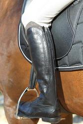 Leren paardrijlaarzen voor dames VICTORY, zwart - kuitmaat M - 693035