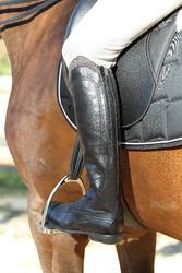 Leren paardrijlaarzen voor dames VICTORY, zwart - kuitmaat M - 693036