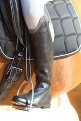 Leren paardrijlaarzen voor dames VICTORY, zwart - kuitmaat M - 693037