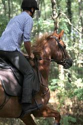 Herenrijbroek met rechte pijpen jeans zwart - 693040