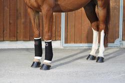 2 kleine witte onderbandages ruitersport voor pony's en paarden - 693114