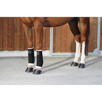 Flanelas Pequenas Equitação Cavalo e Pónei Branco x2