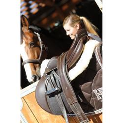 Leren singel ruitersport pony en paard Romeo bruin