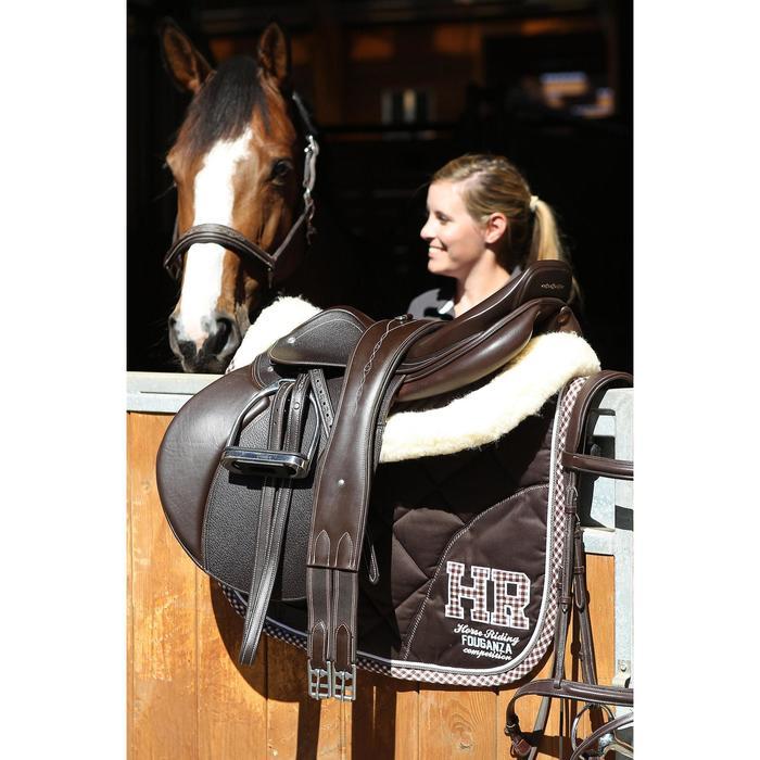 Cincha de cuero equitación poni y caballo ROMEO marrón