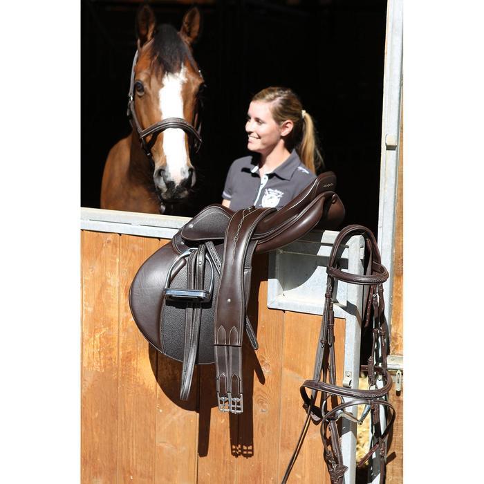 Sattelgurt Romeo Leder Pony/Pferd braun