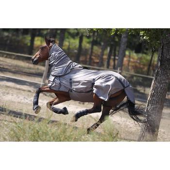 Protectores Integrales Equitación Fouganza Caballo Negro Neopreno 1 par.
