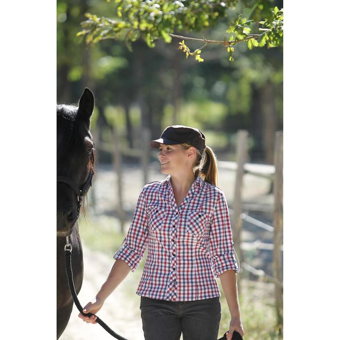 Gorra Equitación Fouganza Sentier Adulto Marrón Perlante Con Protección Solar