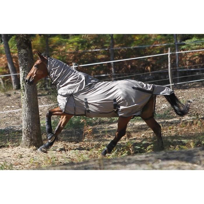 Vliegendeken ruitersport beige - pony en paard