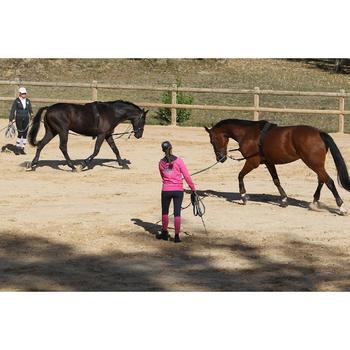 Werksingel ruitersport zwart voor pony's en paarden