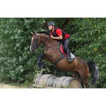 2 cloches ouvertes équitation poney et cheval OPTIMUM PROTECT marron