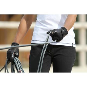 Werkhalstertouw ruitersport Soft grijs en zwart