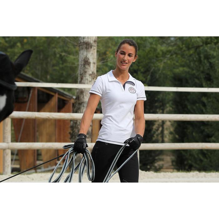 Ronzal de trabajo de equitación SOFT gris y negro