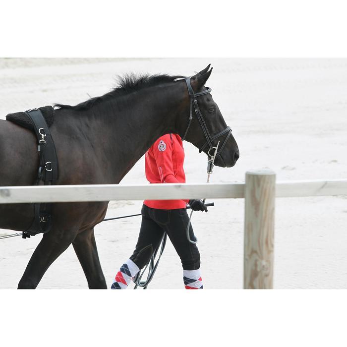 Halsterverbinding ruitersport paard en pony Soft zwart en grijs