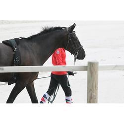 Unión de ronzal equitación caballo y poni SOFT negro y gris