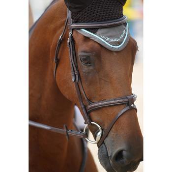 Filet + rênes équitation cheval et poney TINCKLE marron - 693271
