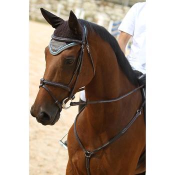 Filet + rênes équitation cheval et poney TINCKLE marron - 693274