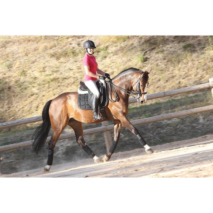 Dressurtrense mit Zügel Beauvalais Pferd schwarz
