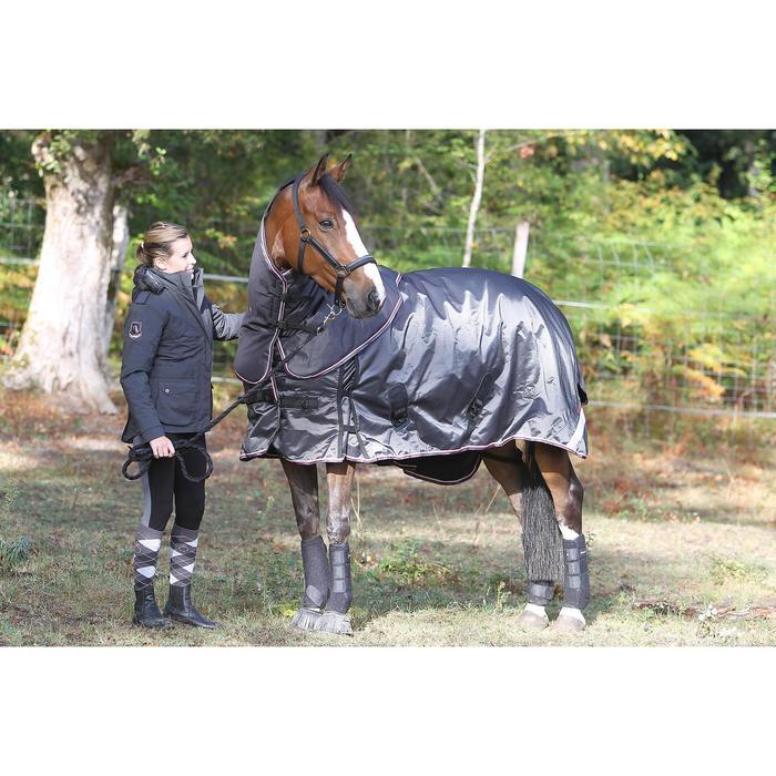 2 guêtres intégrales équitation cheval NEOPRENE noir - 693300