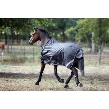 2 guêtres intégrales équitation cheval NEOPRENE noir - 693301
