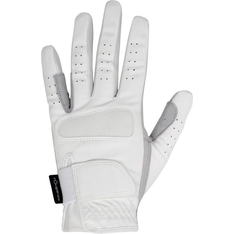 Grippy Adult and Children's Horse Riding Gloves - White