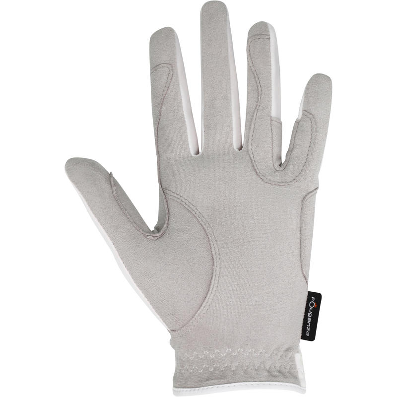 Grippy Women's Horseback Riding Gloves - White