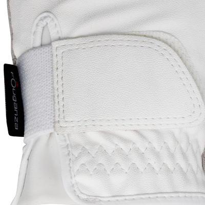 قفازات ذات ثبات جيد لركوب الخيل للكبار والصفار - أبيض
