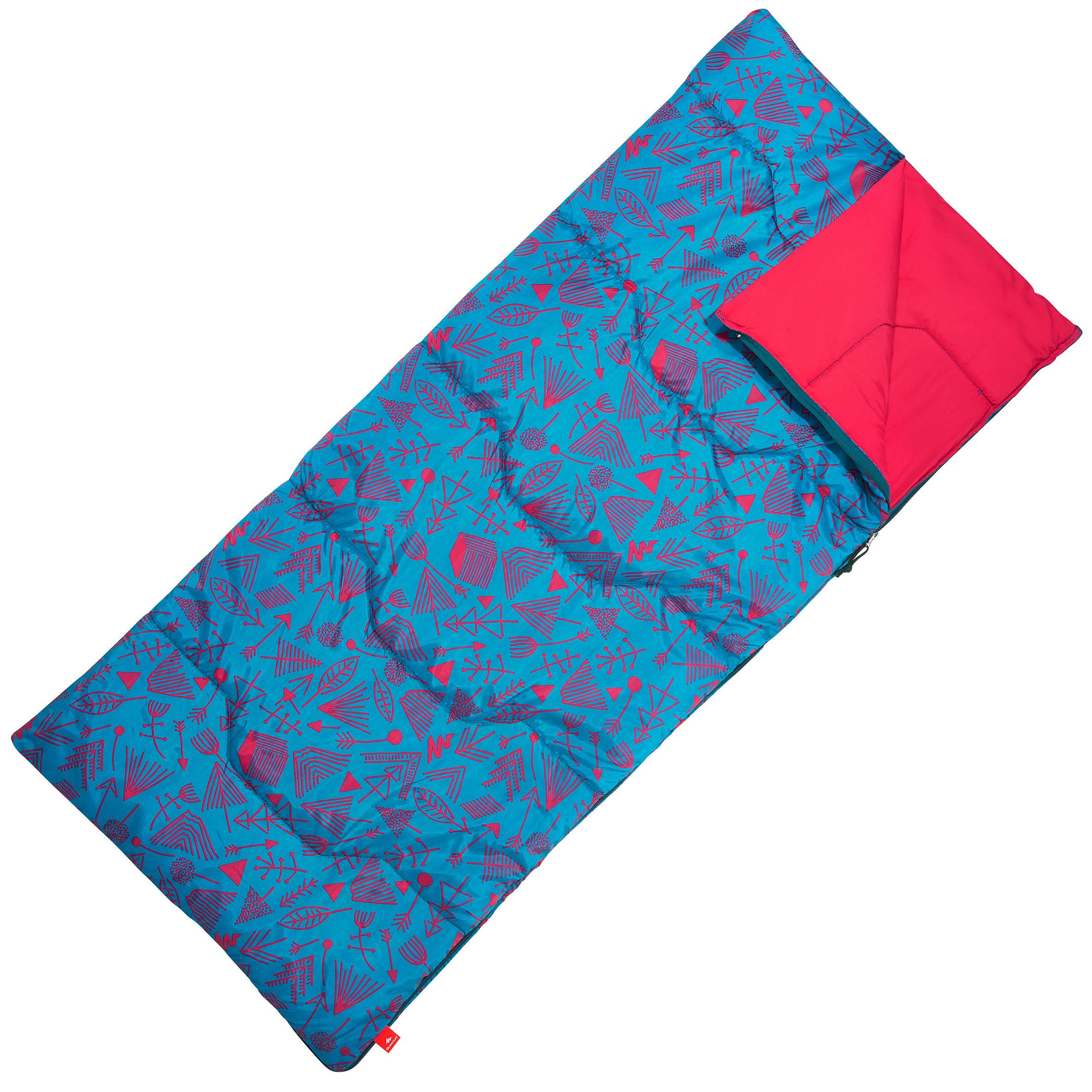 Sleeping bag para campamento NIÑO ARPENAZ 20° Azul