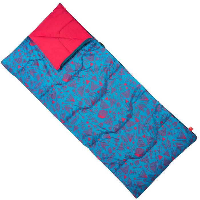 Saco de dormir de acampada júnior Arpenaz 20° - Azul