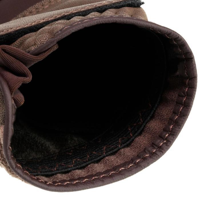 Guantes de equitación niños y adulto GRIPPY marrón