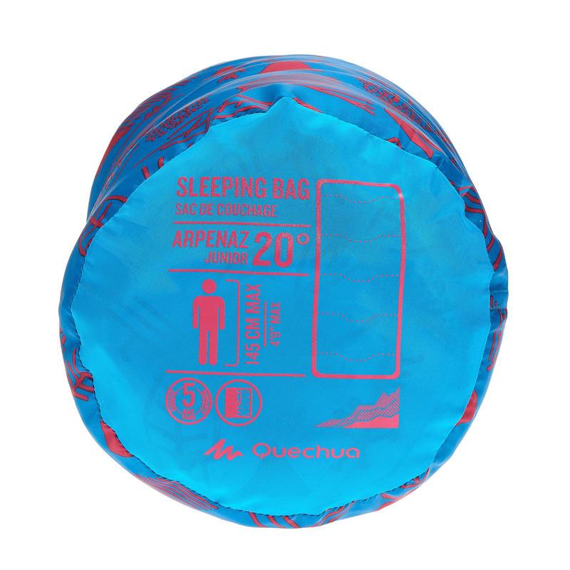 Sac de couchage de camping pour enfant Arpenaz 20° - Bleu